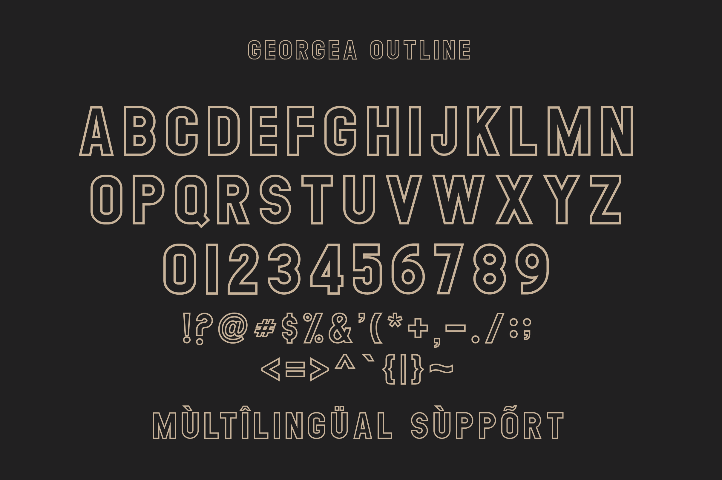 GEORGEA ALL CAPS FONT FAMILY WITH EXTRAS example image 15