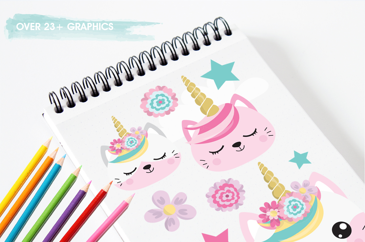 Kawaii Cats graphic and illustrations example image 5