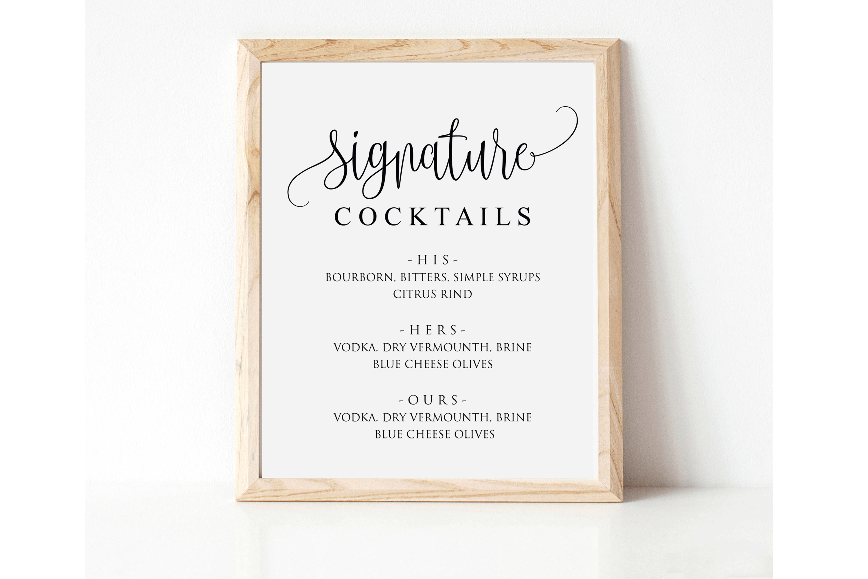 Signature Cocktail Sign Wedding example image 5