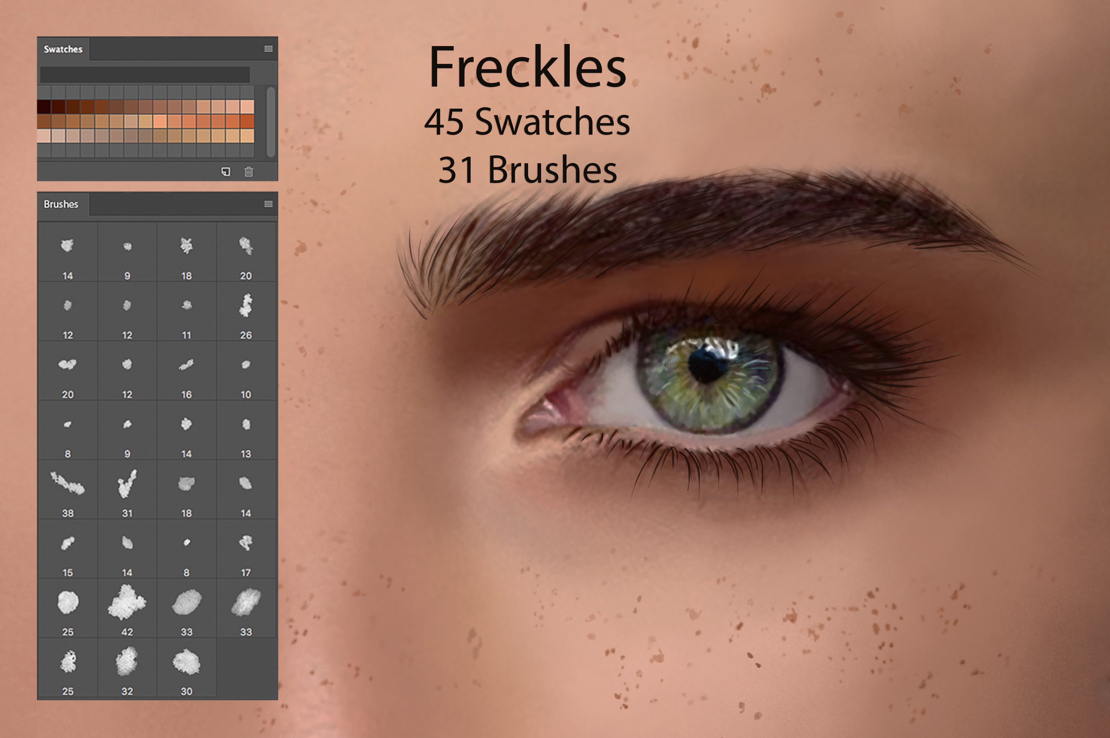Freckles Ps Swatches for DigitalPainting example image 1