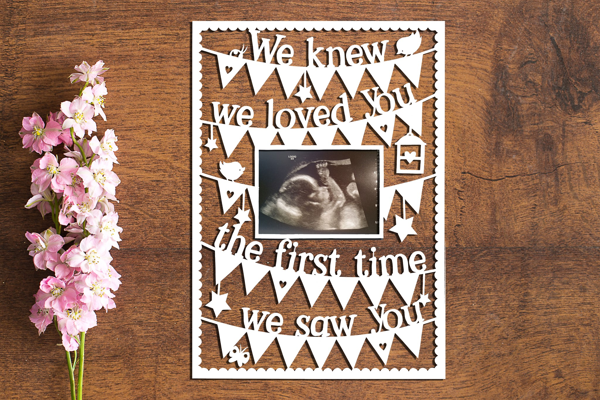 I/We Knew I/We Loved You - Set of 2 Paper Cutting Templates example image 1