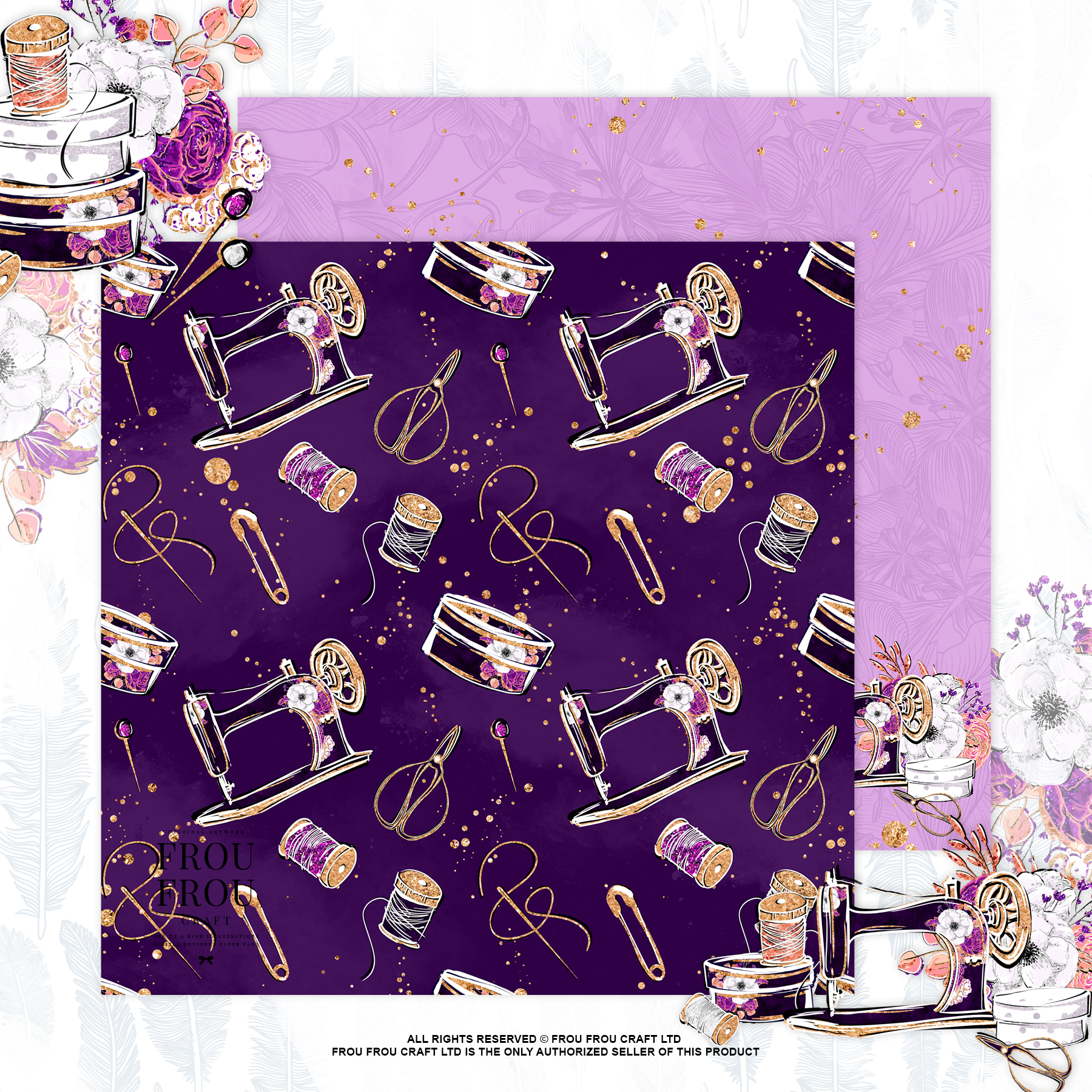Fashion Designer Sewing Gold Glitter Paper Pack example image 6