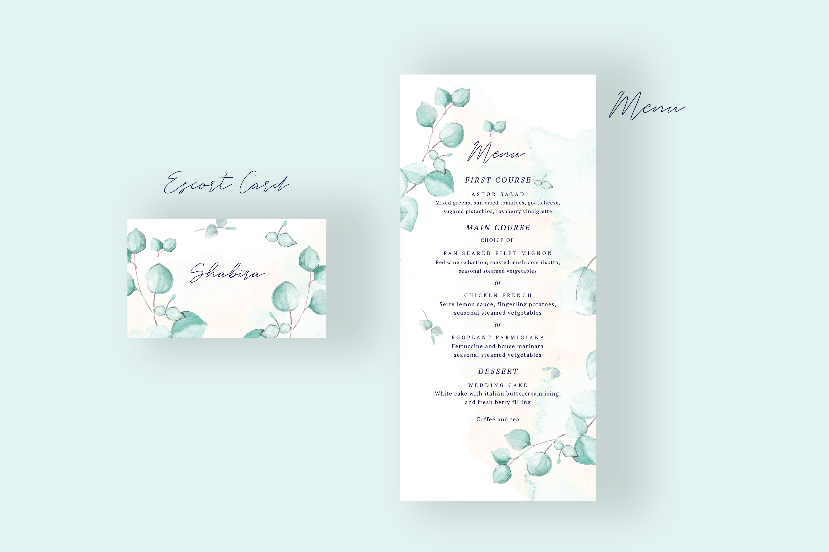 Watercolor Eucalyptus Wedding Suite example image 3