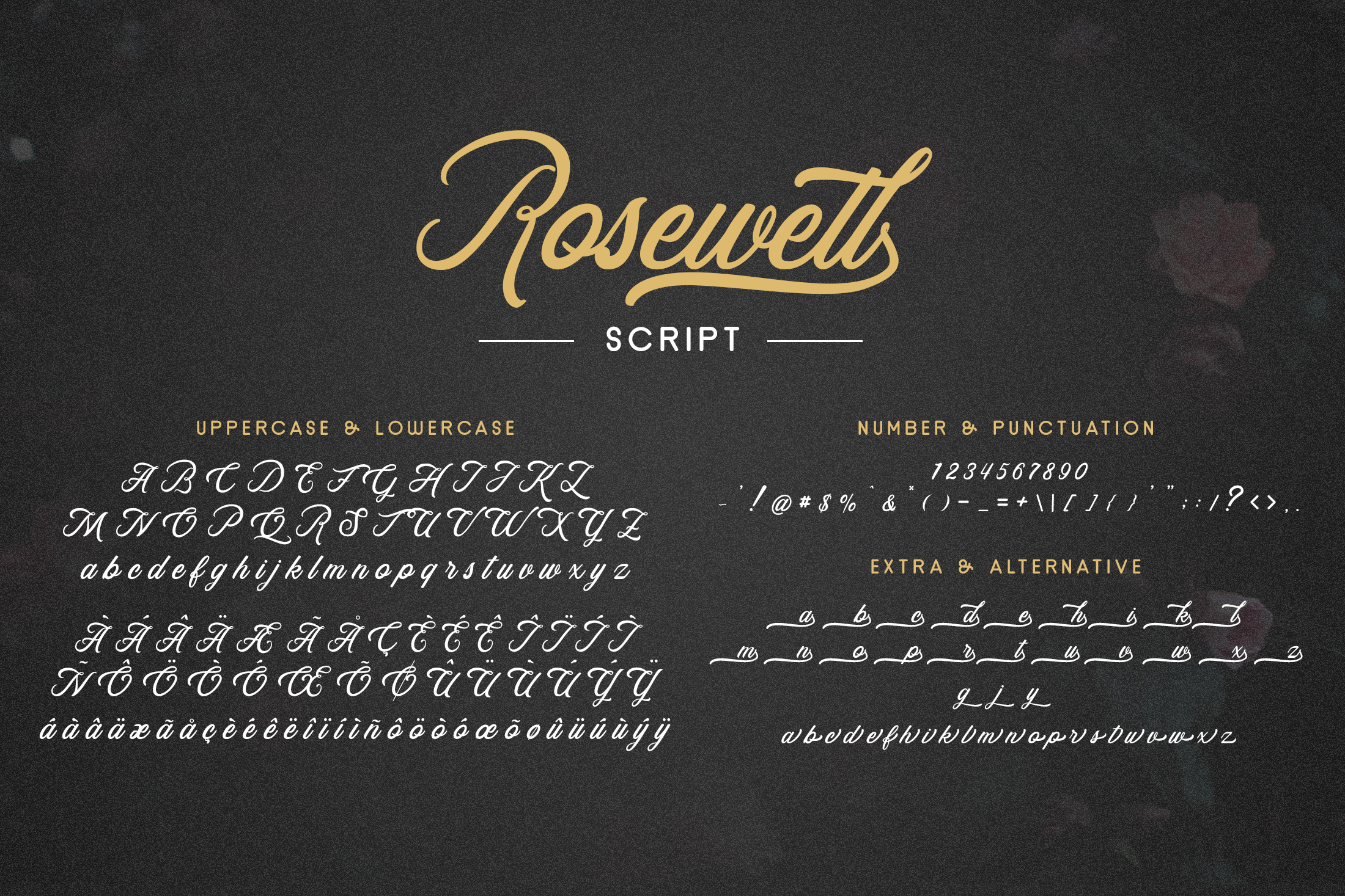 Rosewell Font Collection example image 7