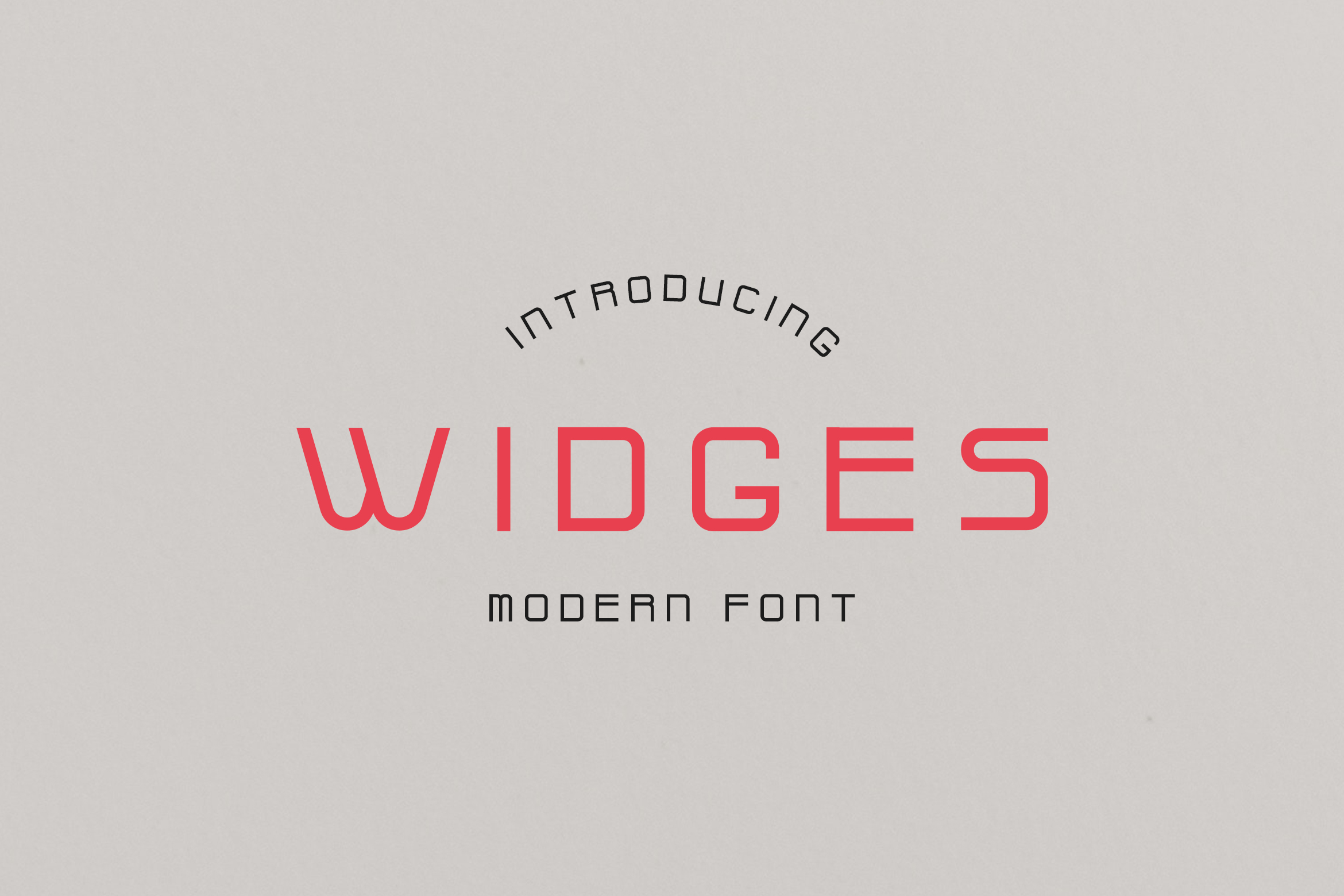 Widges Modern Font example image 1