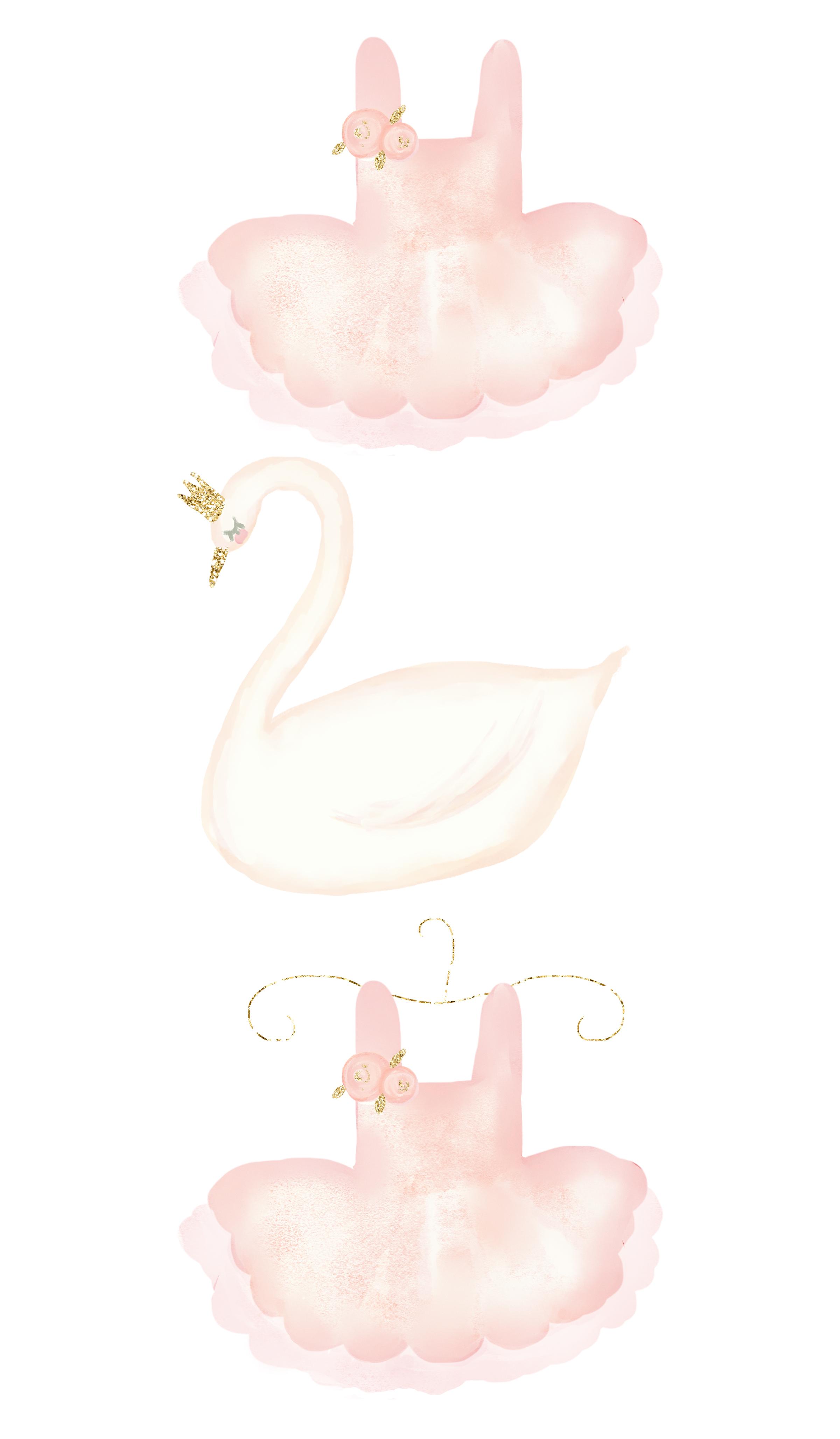 Swan Princess Watercolor Clipart example image 3
