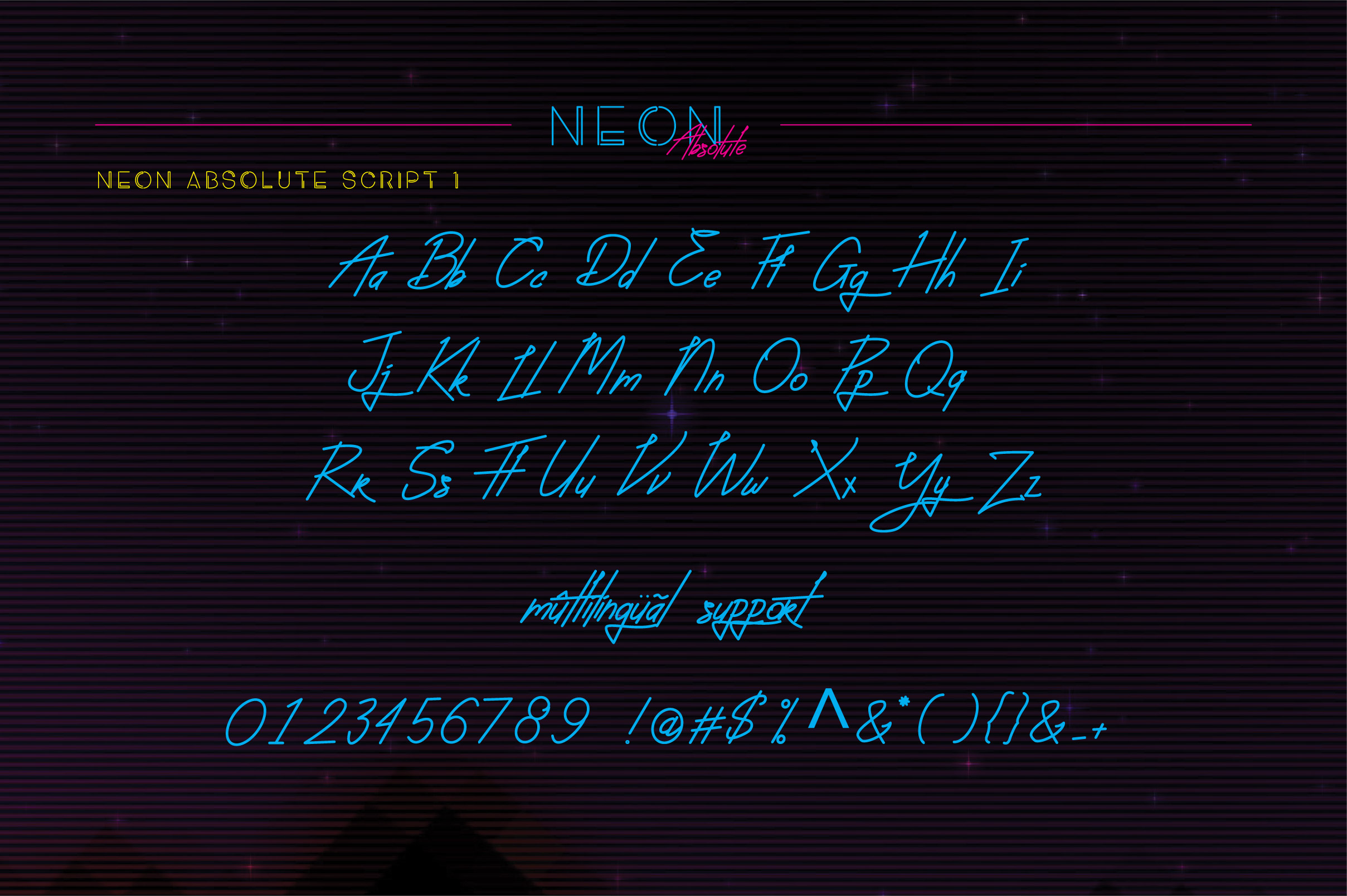 Neon Absolute - Font Duo example image 7