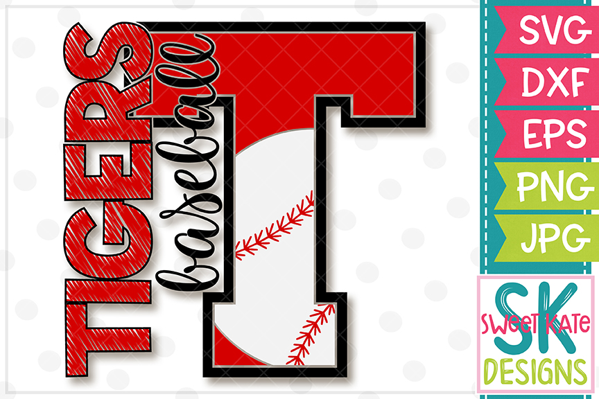 T Tigers Baseball SVG DXF EPS PNG JPG example image 4