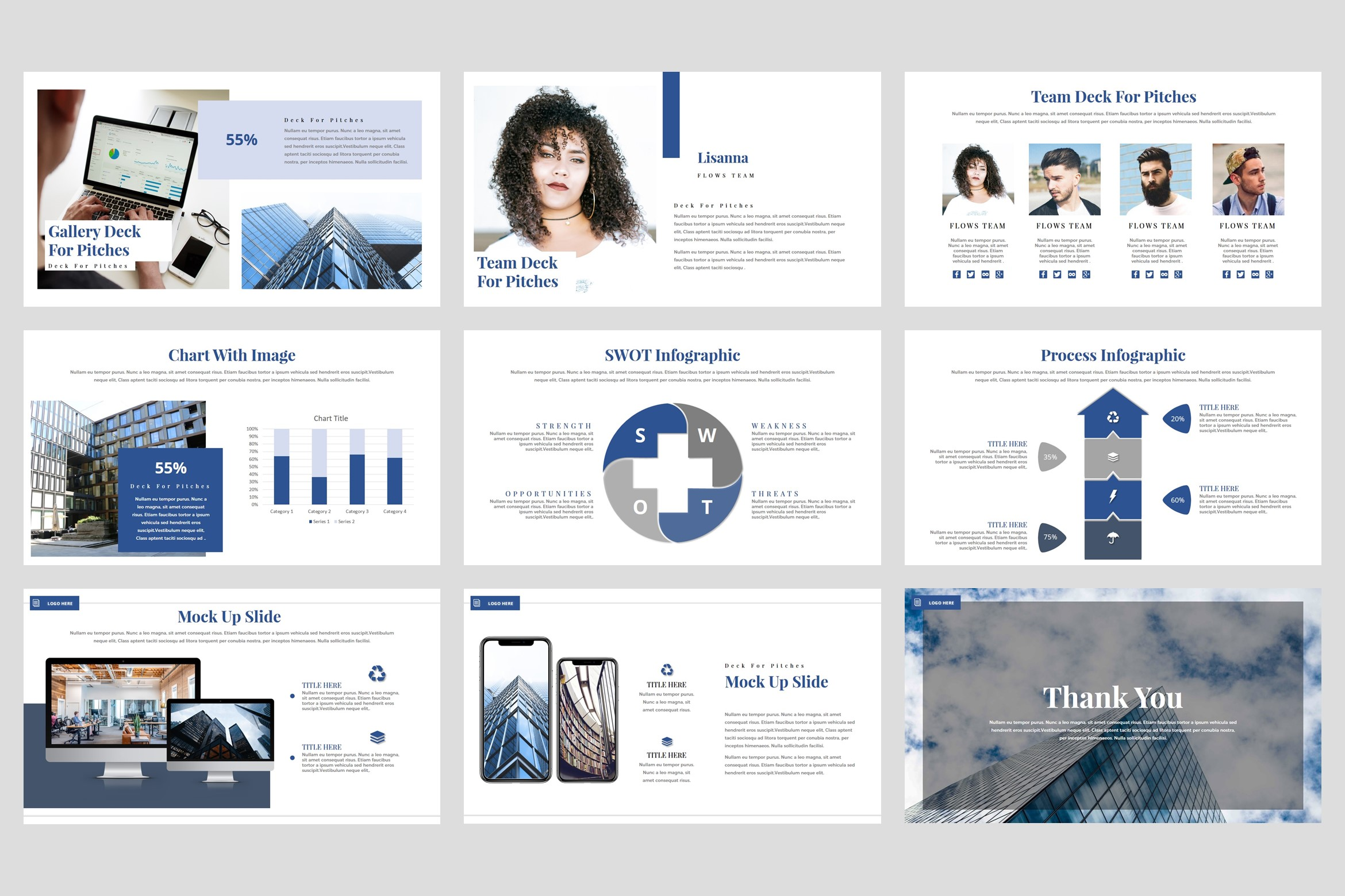 Flows - Pitch Deck PowerPoint Template example image 5