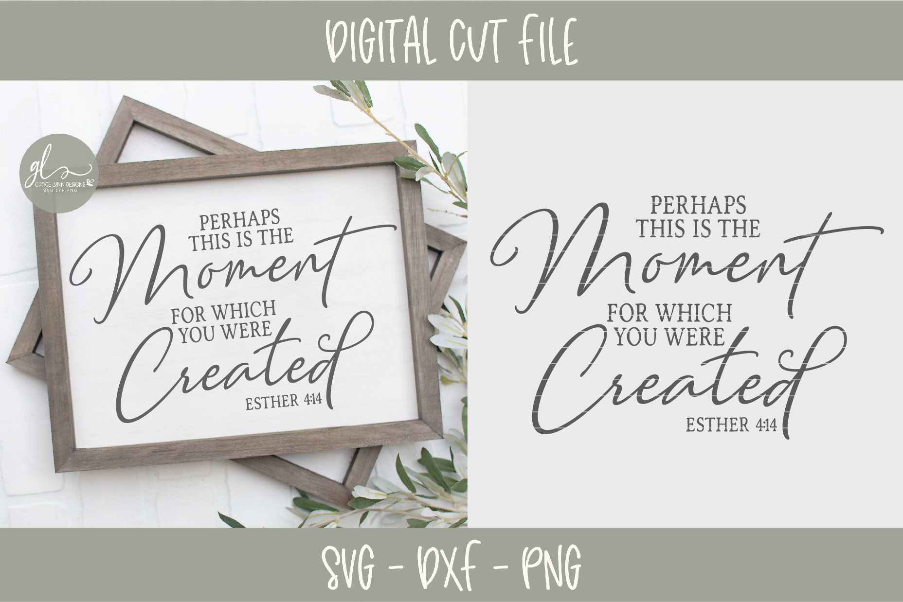 Perhaps This The Moment For Which You Were Created - SVG example image 2