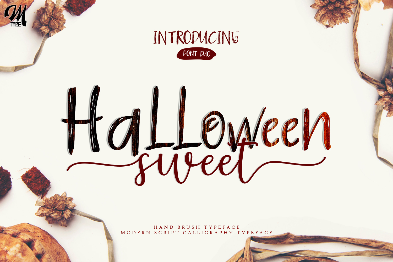 Halloween Sweet Font Duo example image 1