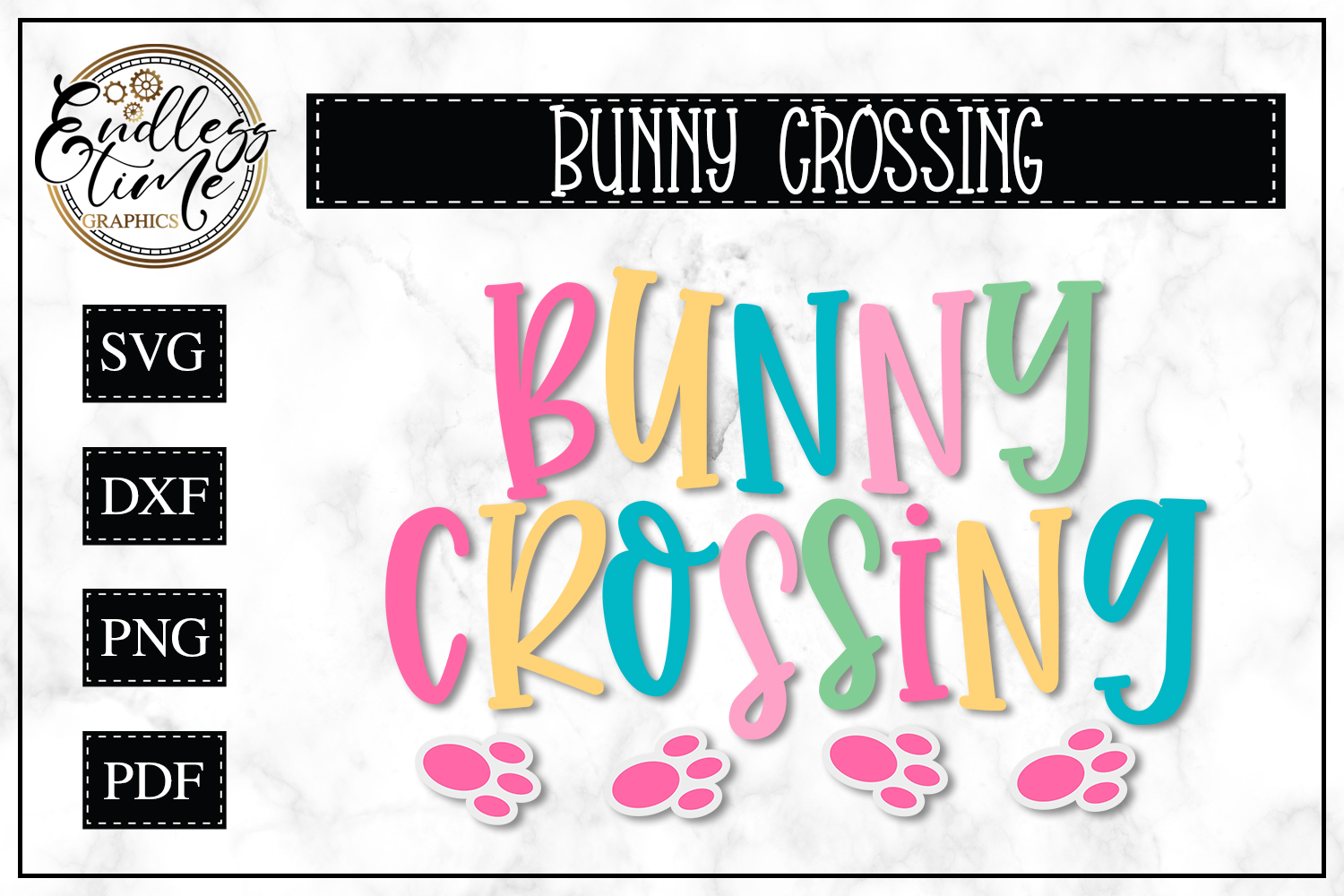 Bunny Crossing SVG - A Hoppy Little Easter SVG example image 1