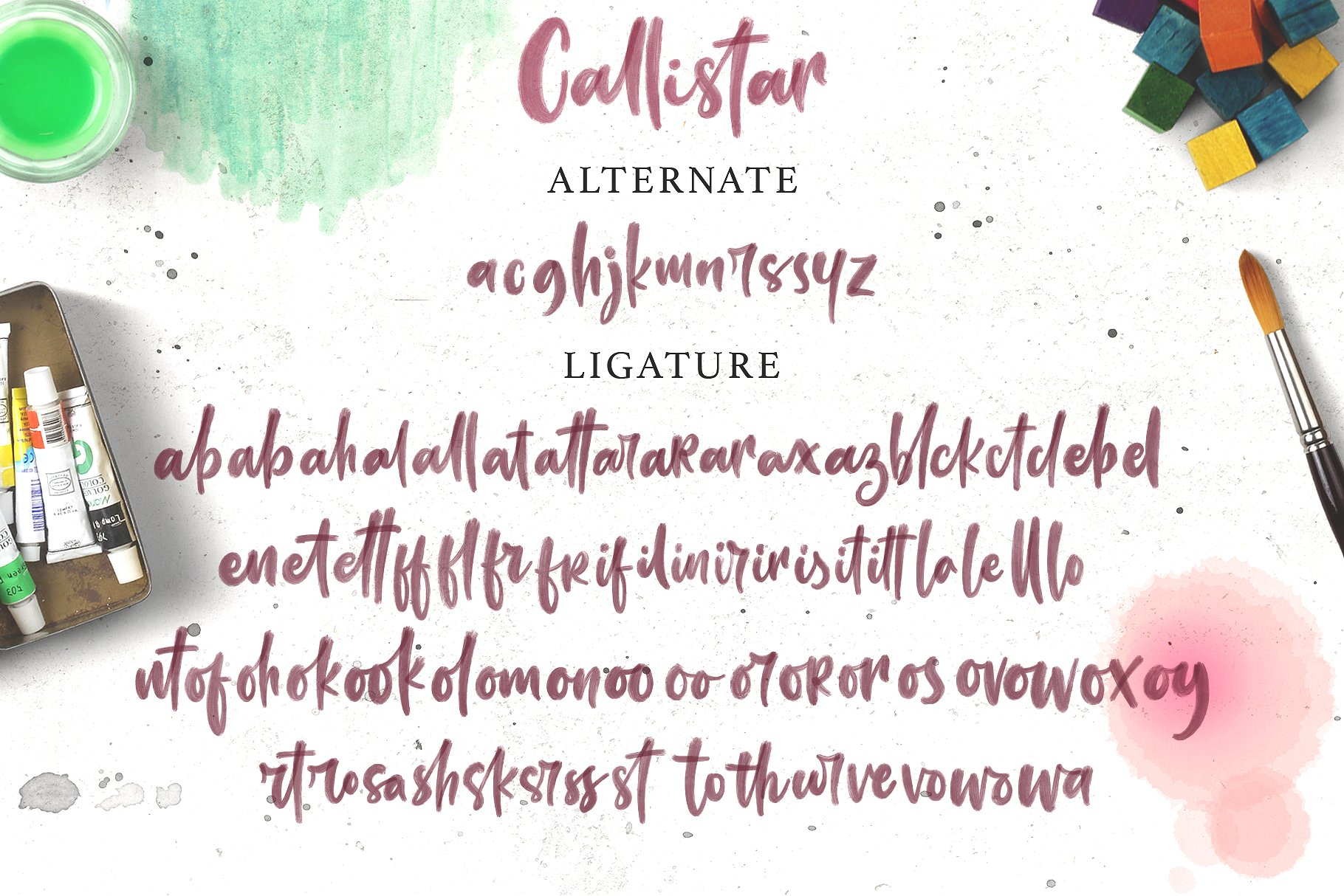Callistar SVG & Regular Font example image 9