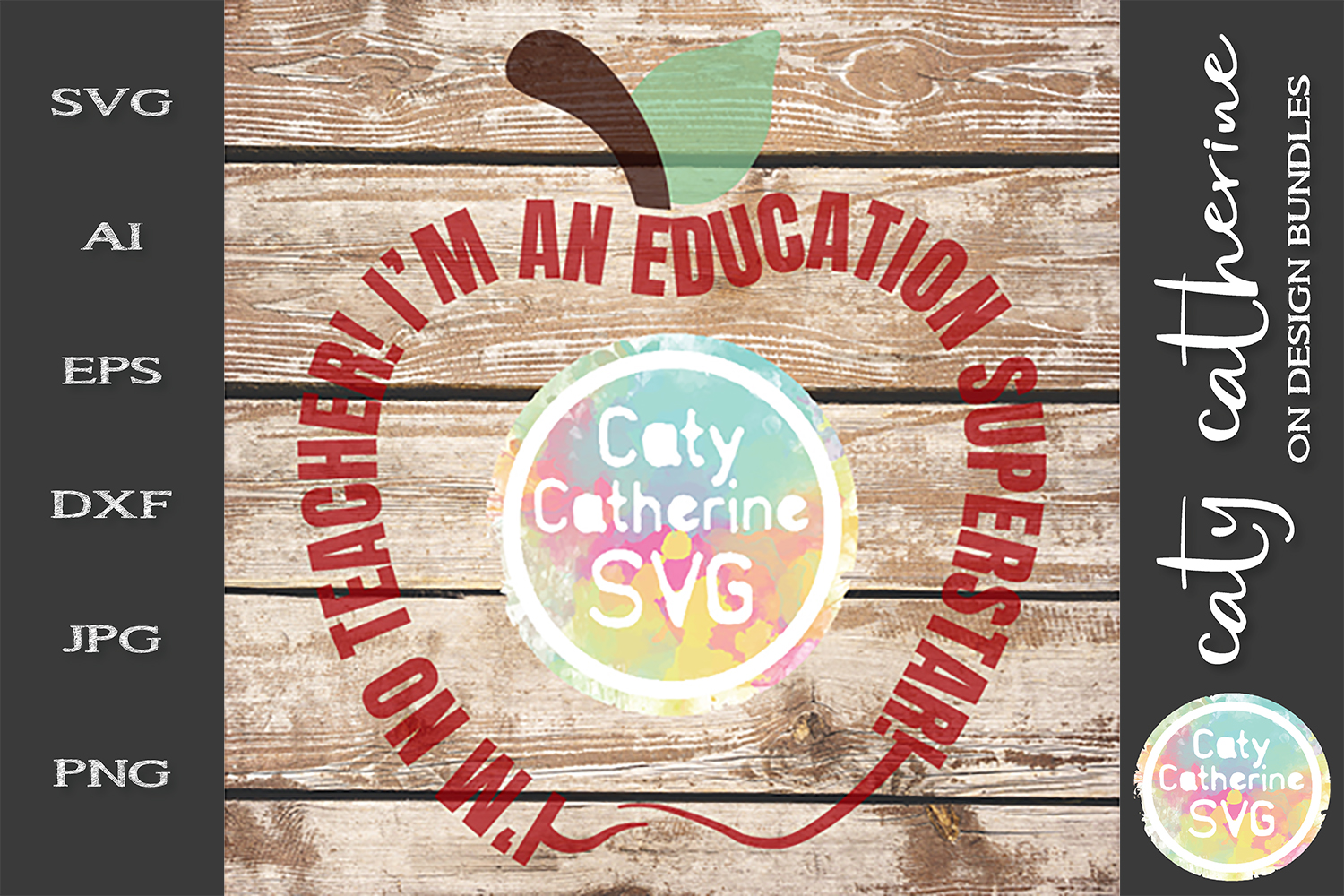 I'm No Teacher I'm An Education Superstar SVG Cut File example image 2