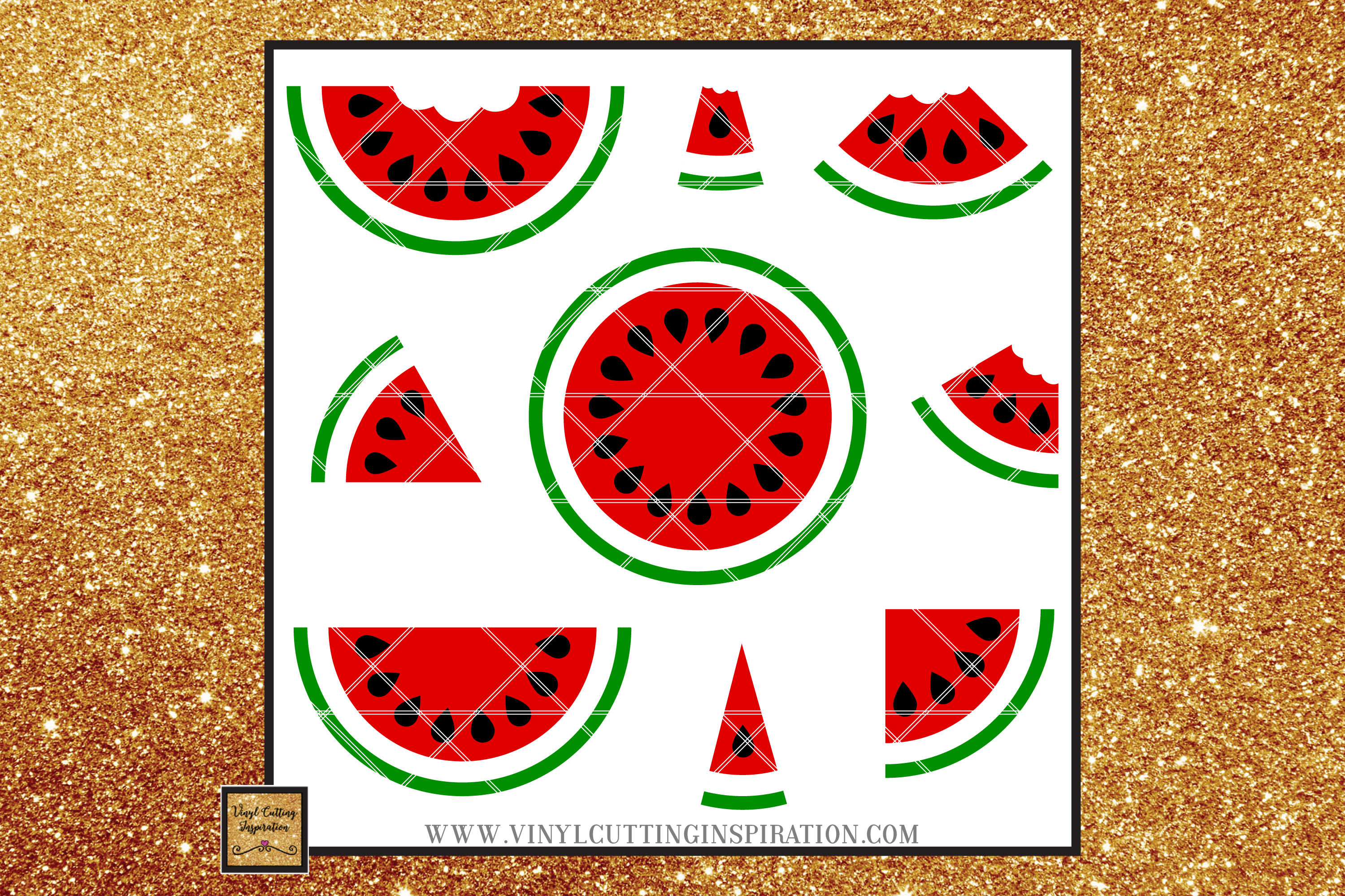 Watermelon svg Watermelon Cricut Watermelon Cut File Bundle example image 1