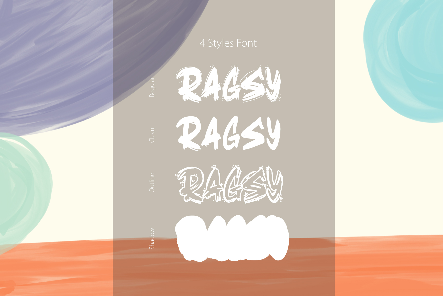 Ragsy | Cartoon layered font example image 3