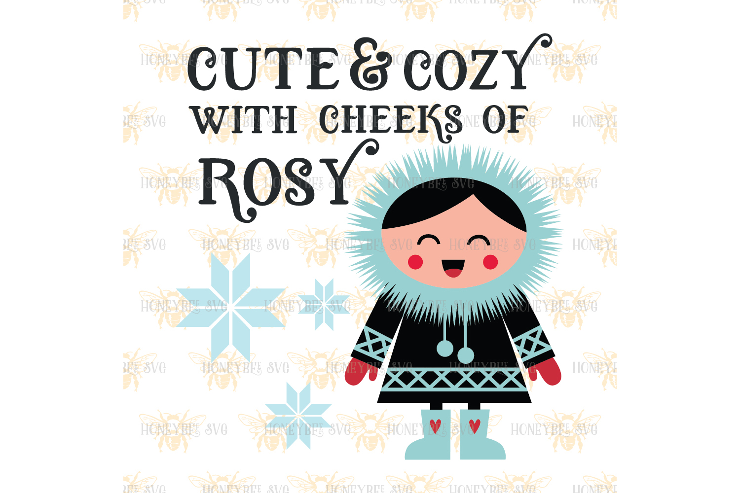 Cute and Cozy Cheeks of Rosy svg  example image 2