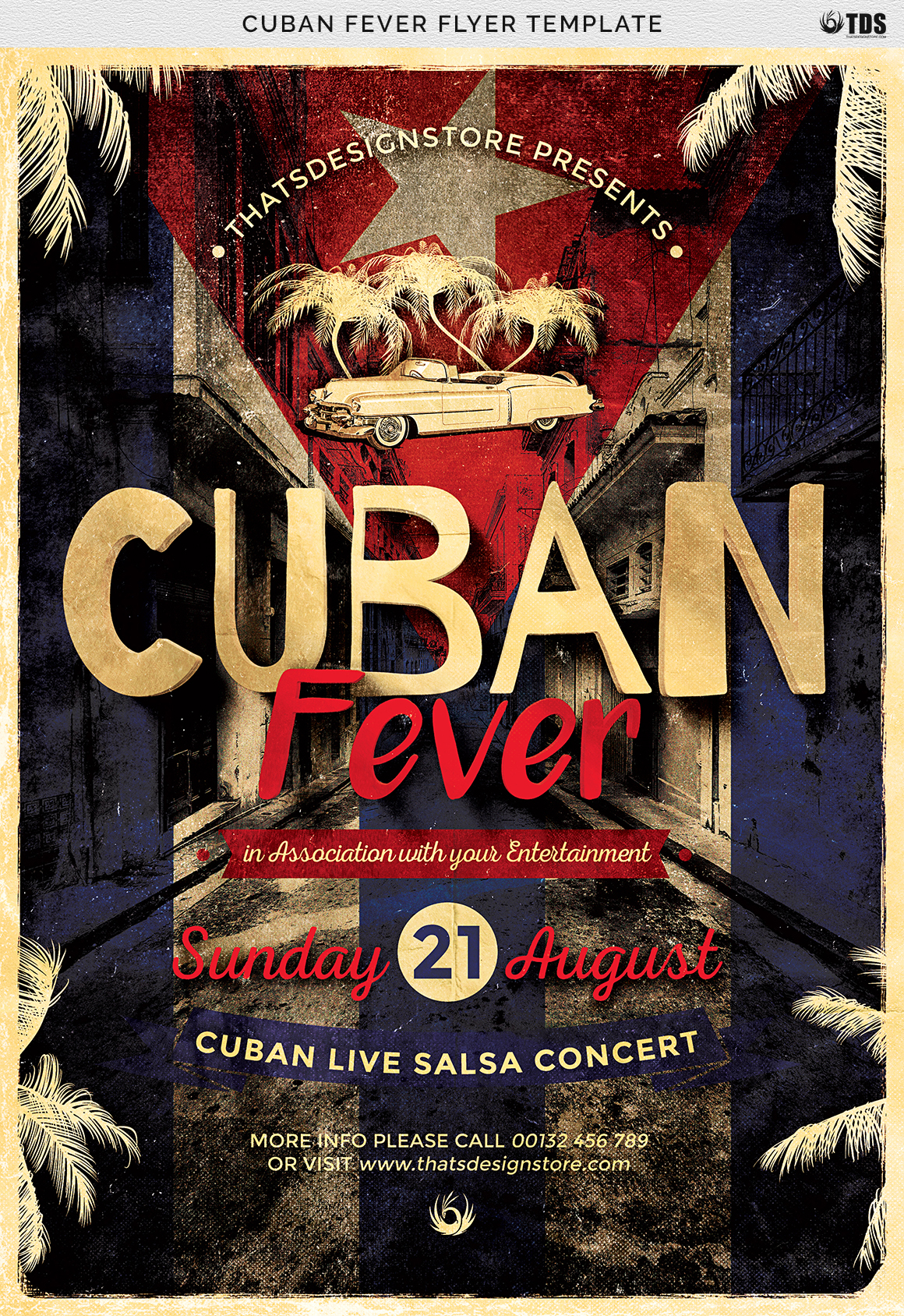 Cuban Fever Flyer Template example image 7