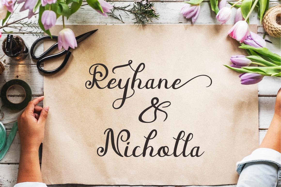 Beauty Nayshilla Font Duo example image 5