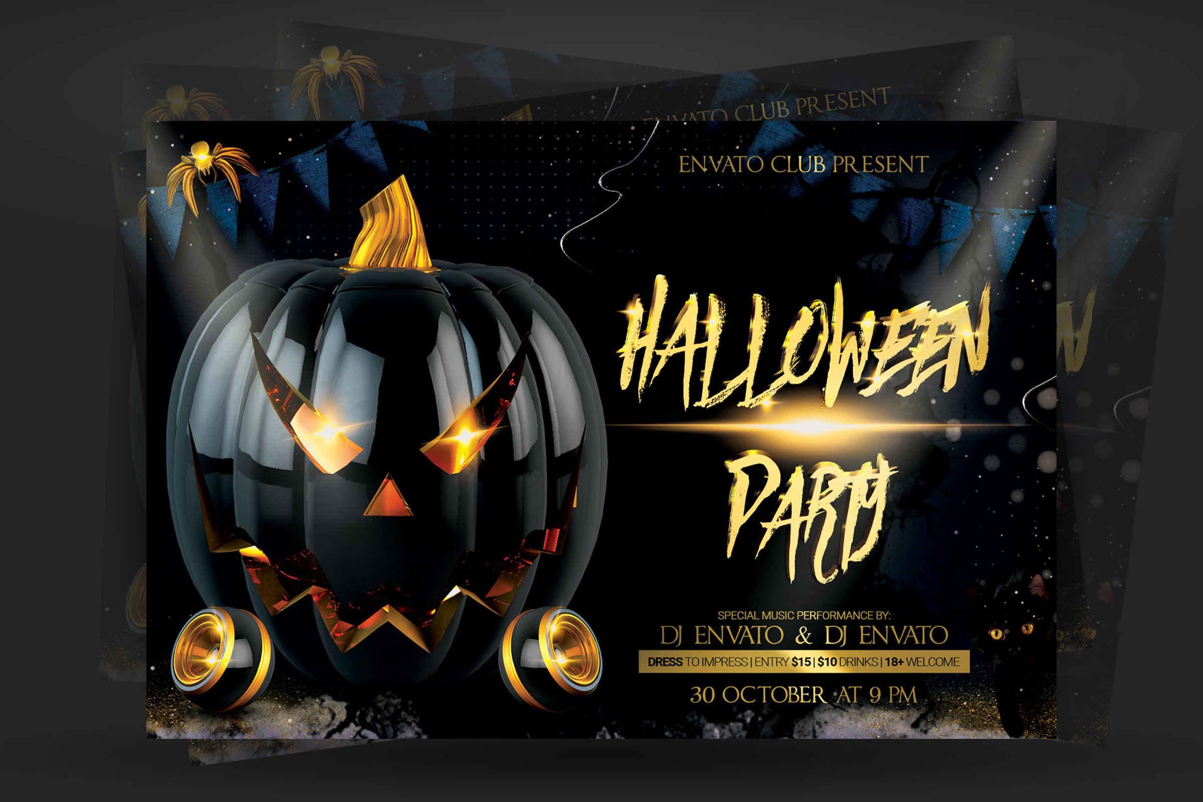 Halloween Flyer example image 2