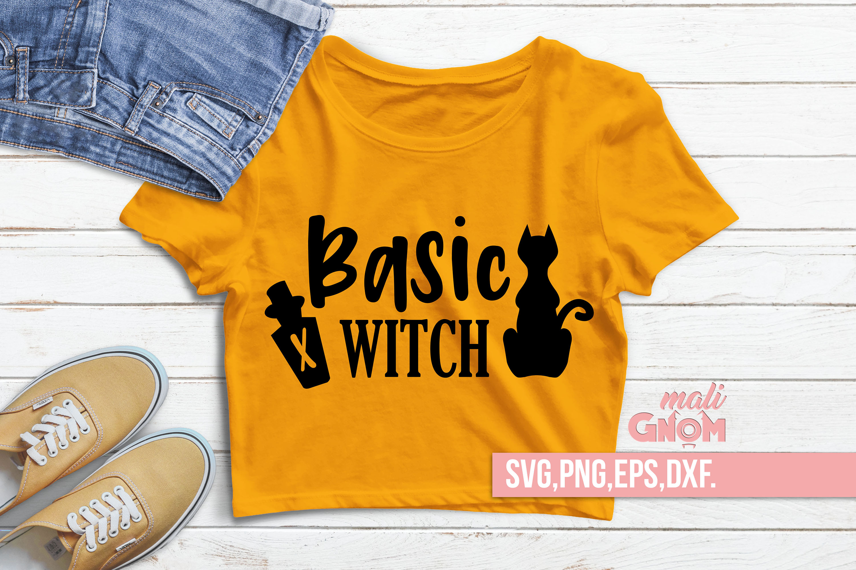 Basic Witch SVG, Witch svg, Halloween SVG file, Trick or Tre example image 1