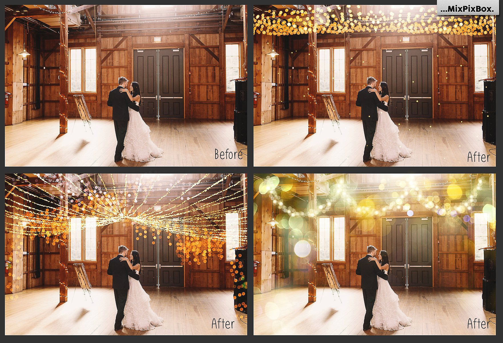 100 Golden Lights Photo Overlays example image 5