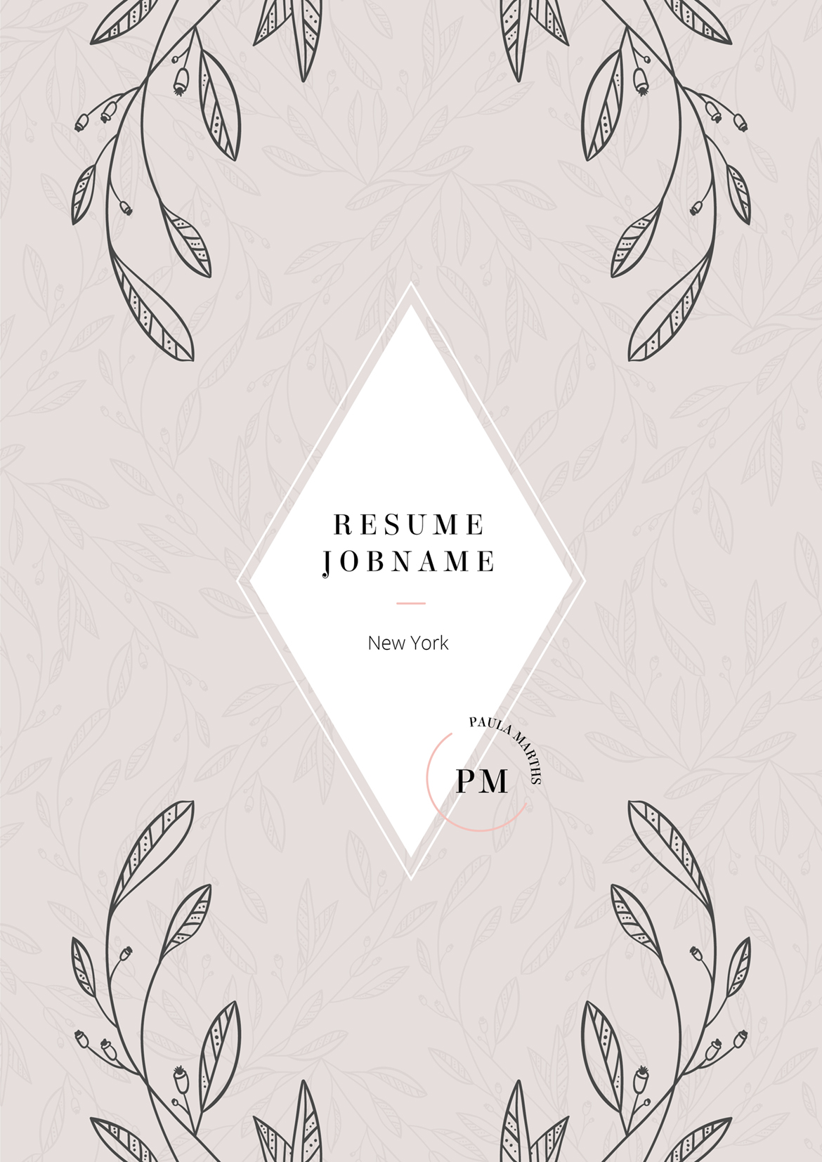FLORAL Resume/CV + Cover Letter + Title example image 7