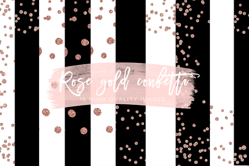 Rose Gold Confetti Overlays, Rose Gold Scrapbook Paper, Gold Paper, Rose Gold Glitter Confetti, Rose Gold Party Backgrounds, Best Selling example image 2