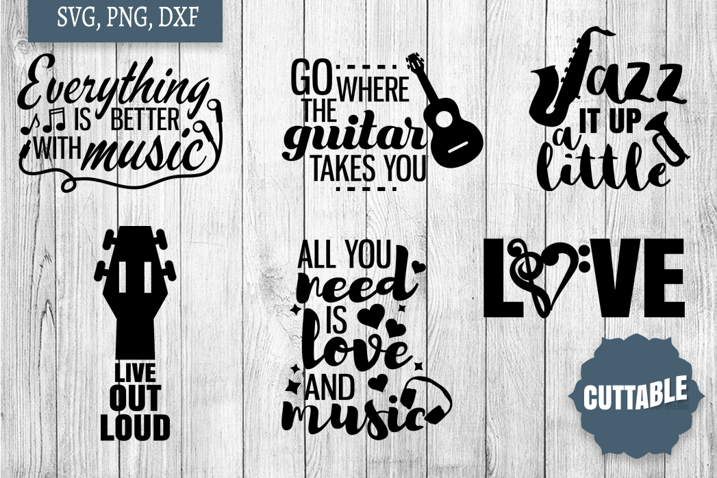 Music cut file Bundle, Musician quote SVGs, Musicial SVGs example image 2
