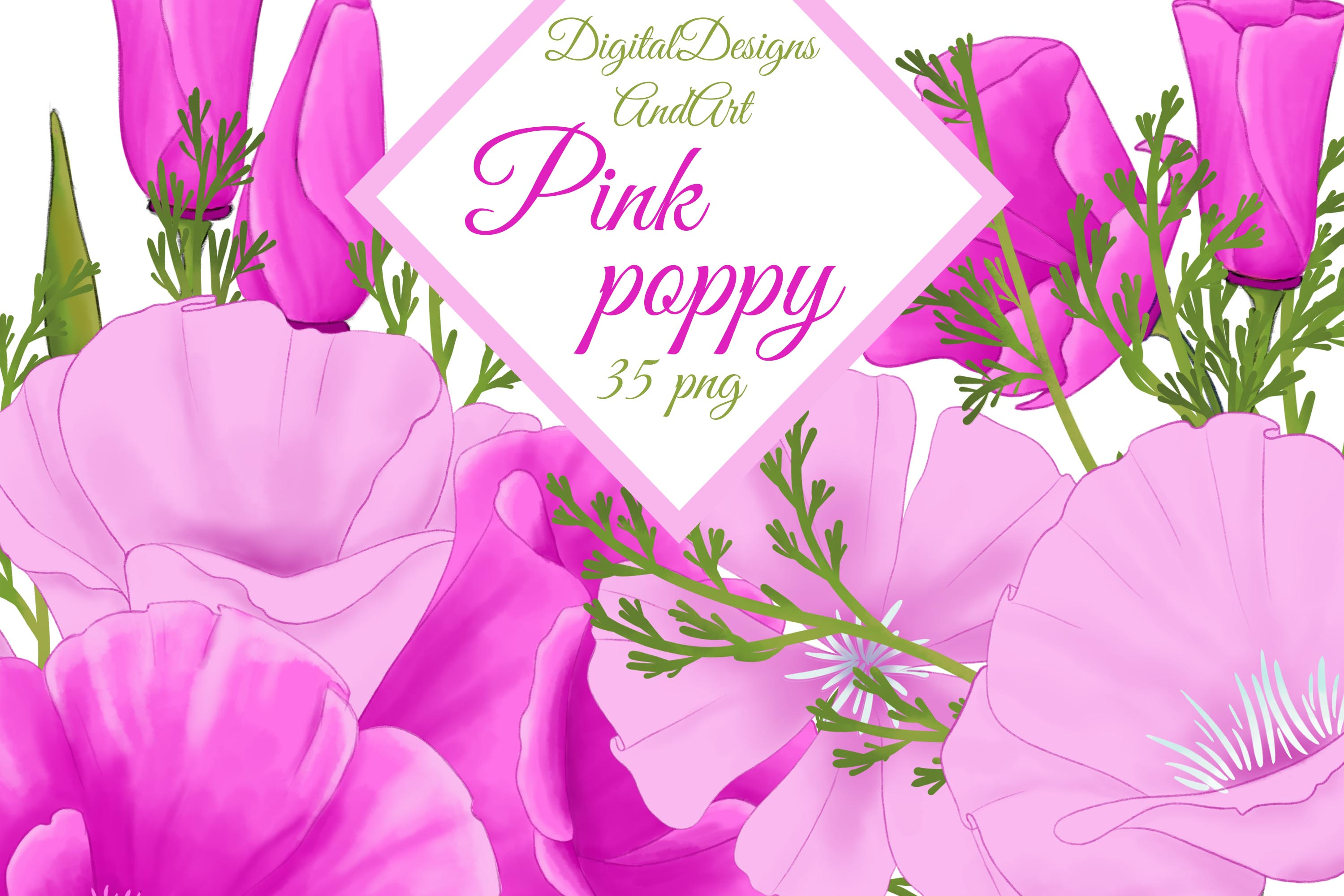 Poppy clipart example image 1