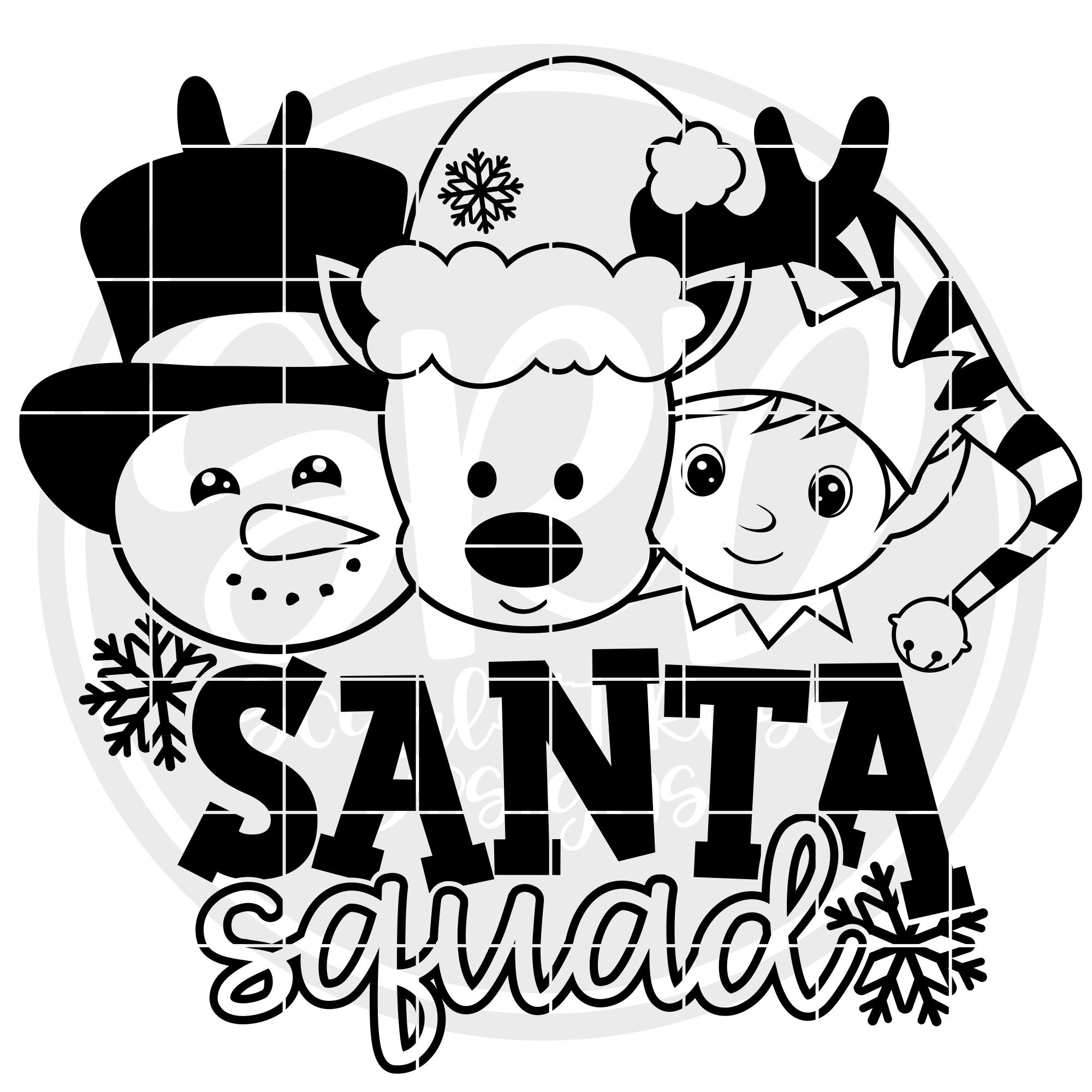 Santa Squad Boys SVG example image 2
