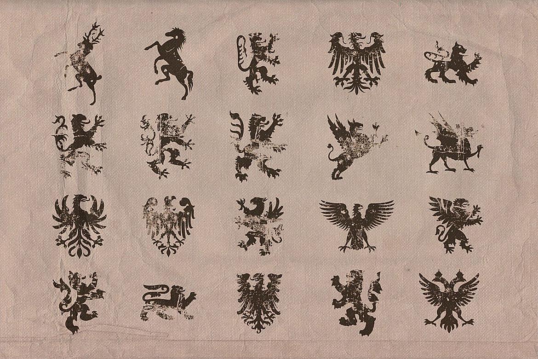 Vintage shapes - Heraldry Symbols 2 example image 4