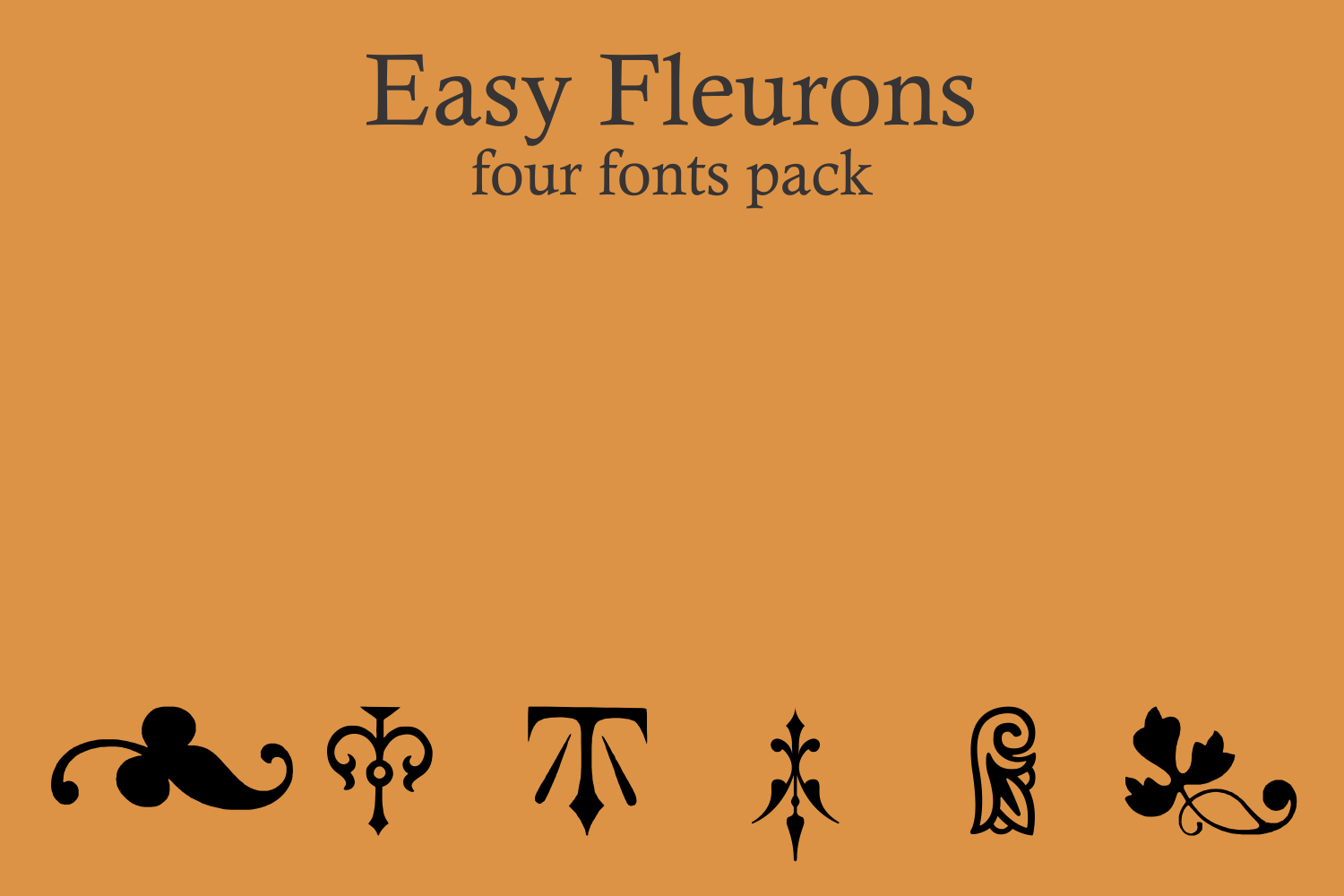 Easy Fleurons Pack (four fonts) example image 5