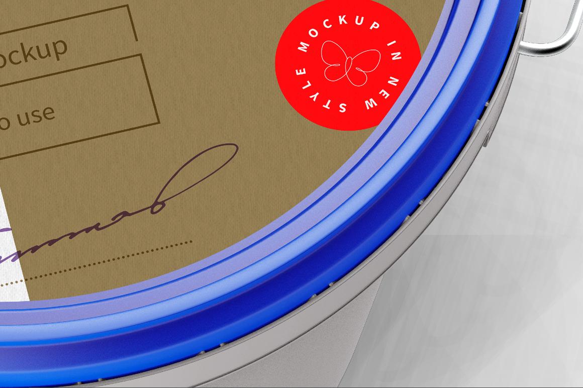 Plastic Paint Bucket Mockup example image 6
