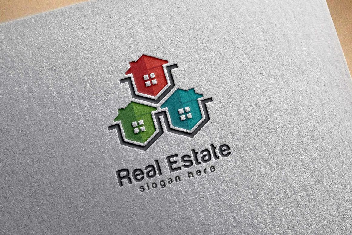Real Estate logo, Abstract home logo example image 1