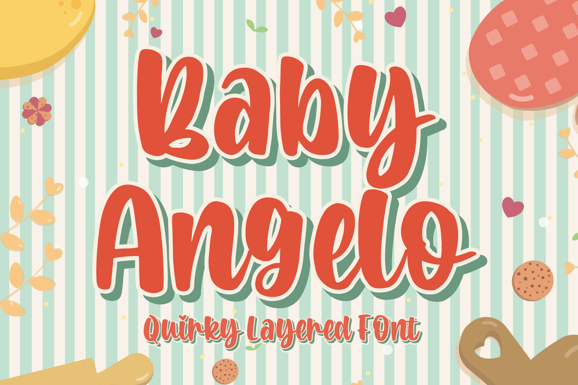 Baby Angelo - Quirky Layered Font example image 1