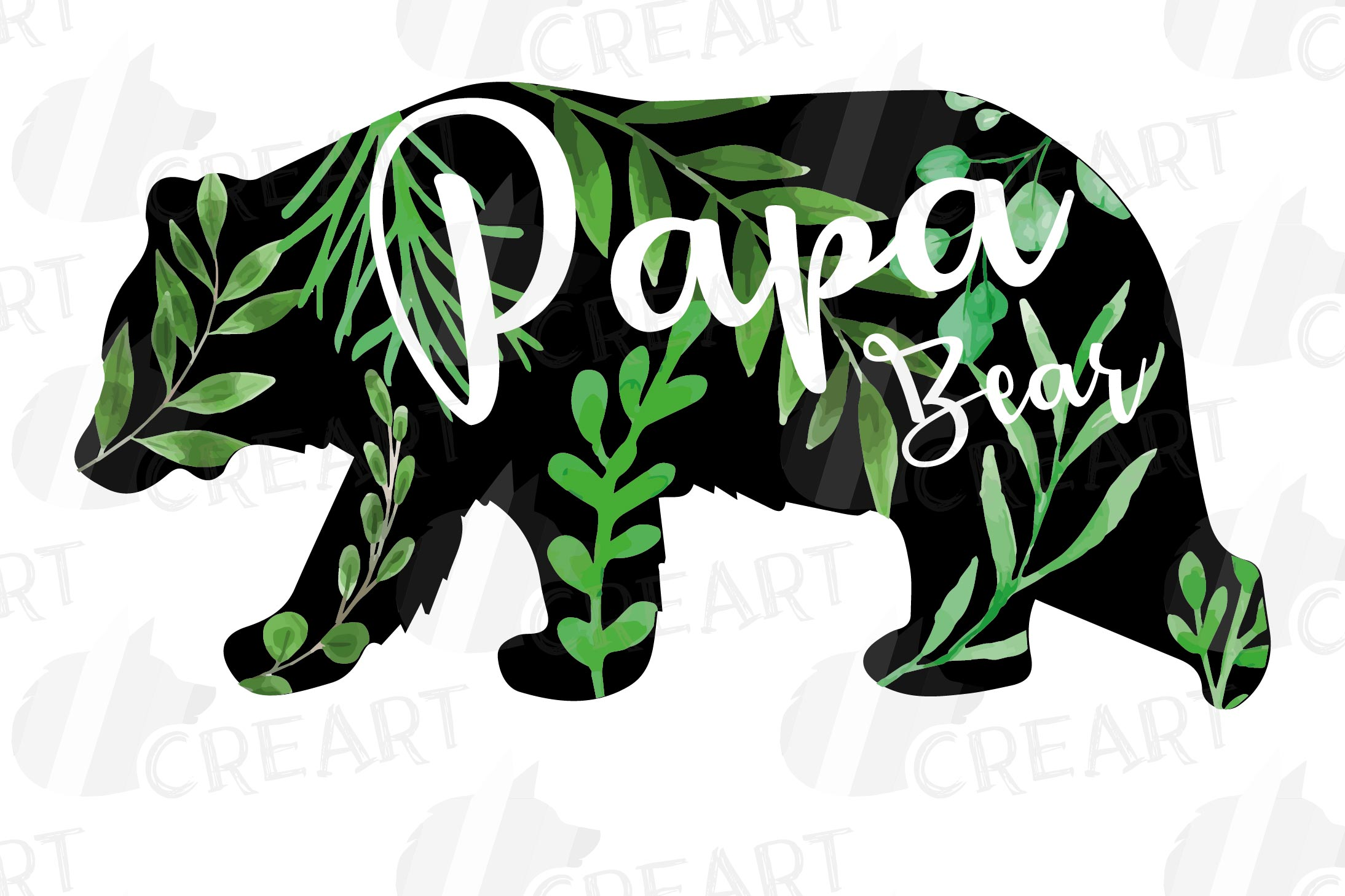 Floral bear family, sister, brother, baby, papa and mama example image 14