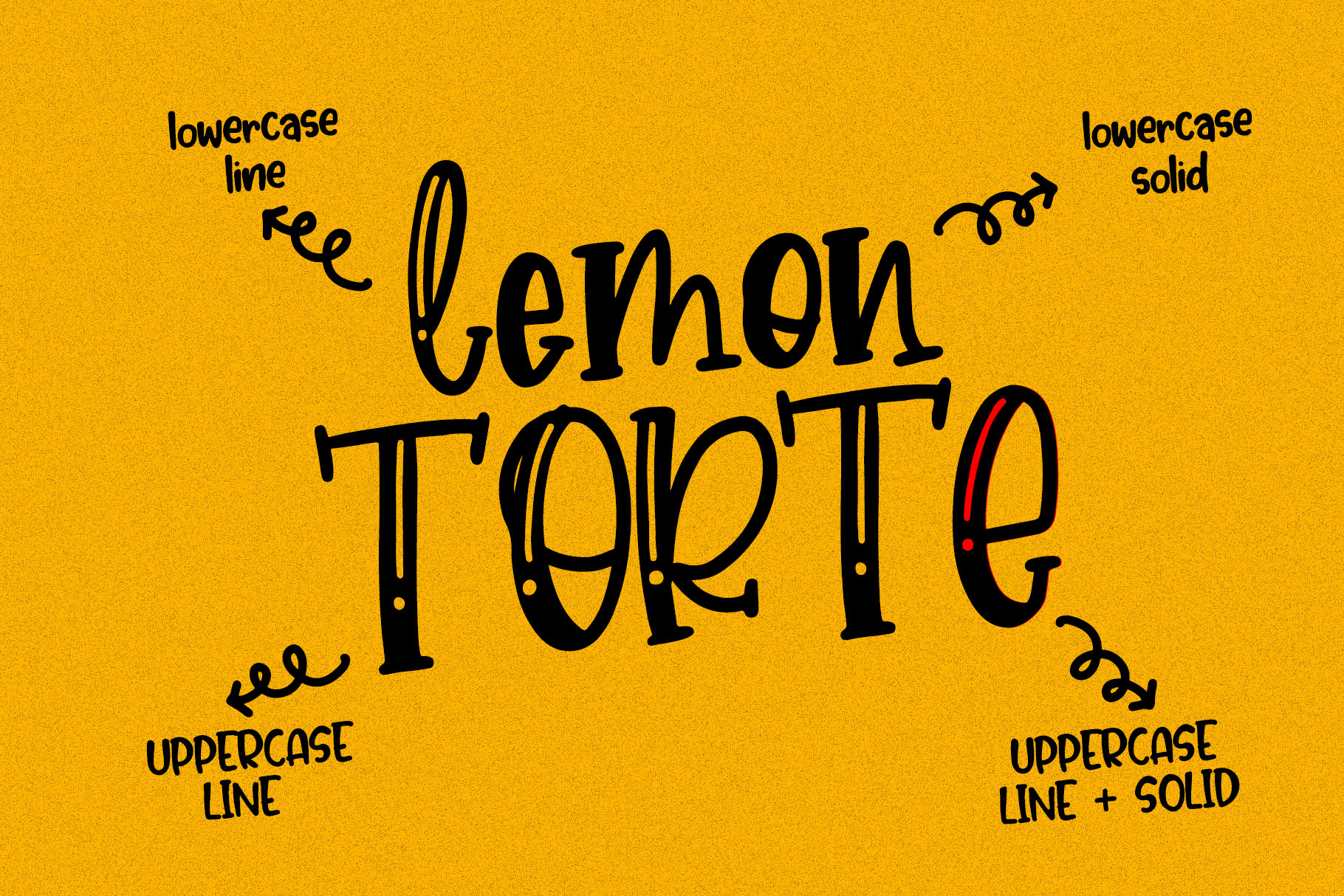 Lemon Torte - Crafty Font duo Solid & Line example image 2