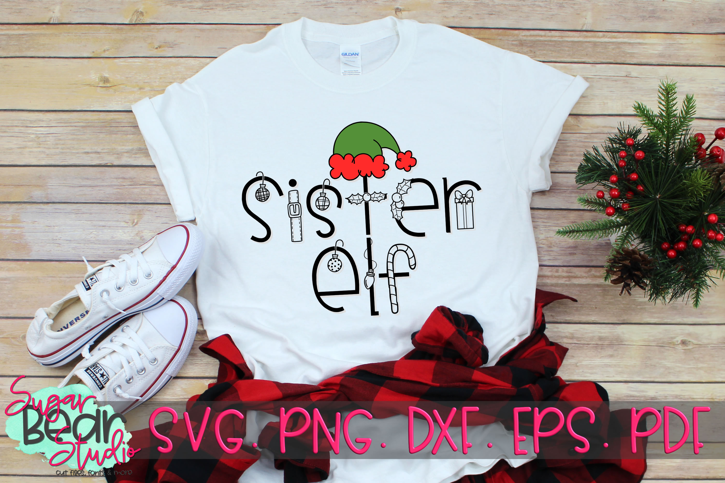 Sister Elf - A Christmas SVG example image 2