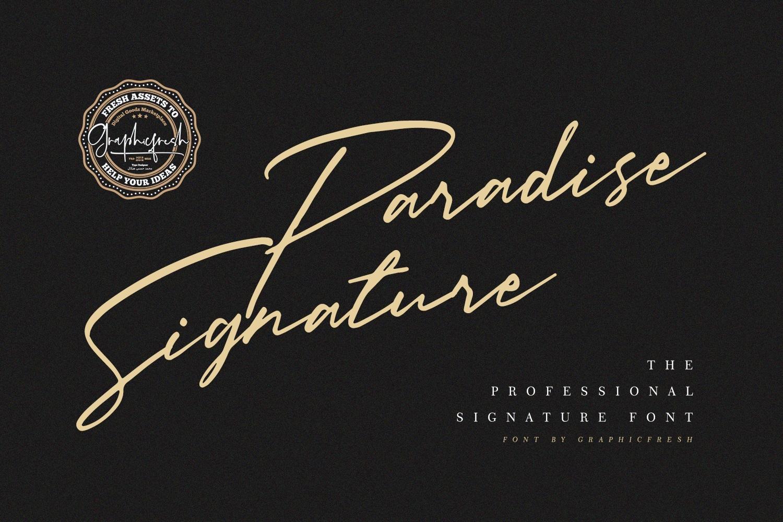 Paradise Signature Font example image 8