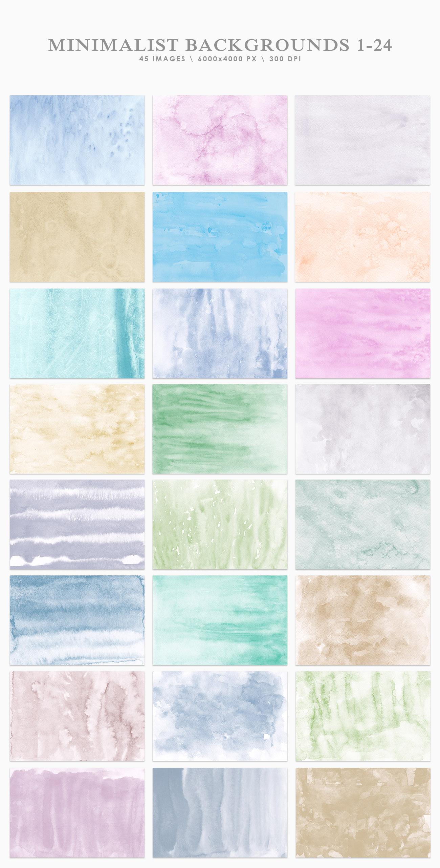 Minimalist Watercolor Backgrounds example image 2