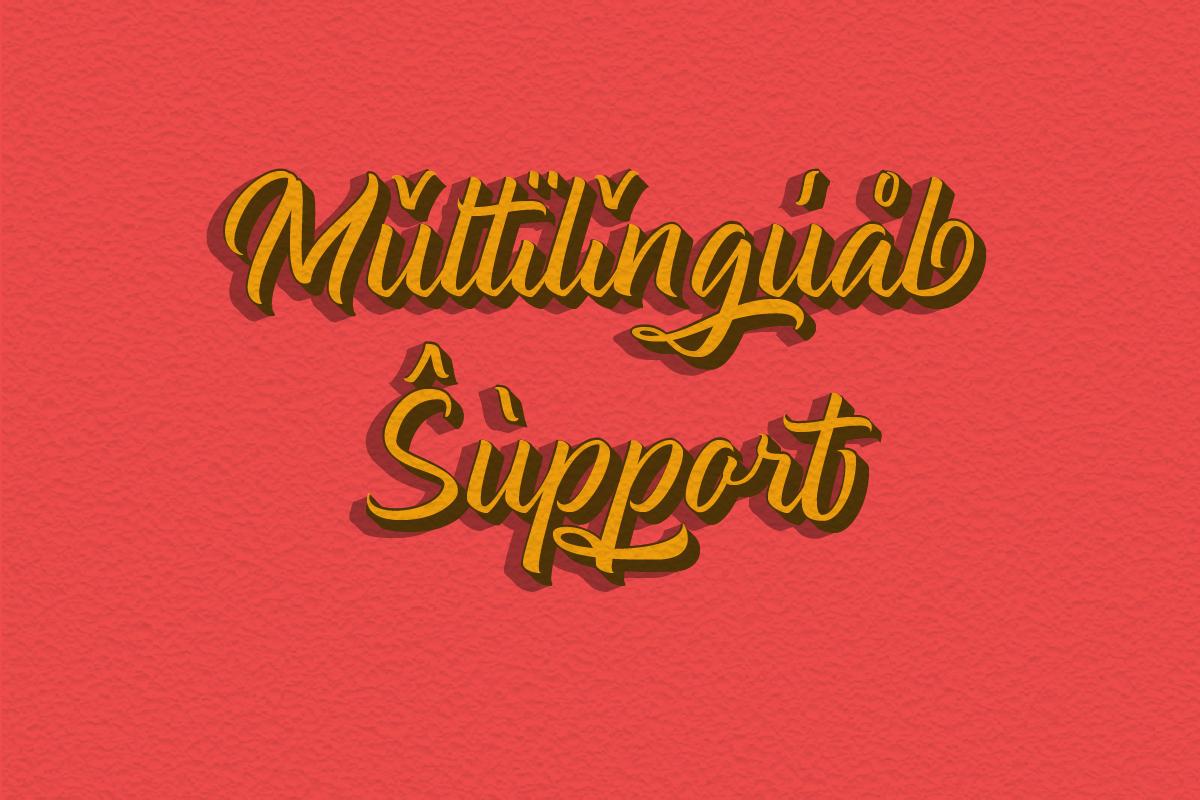 Halmahera Island - Layered Font example image 12