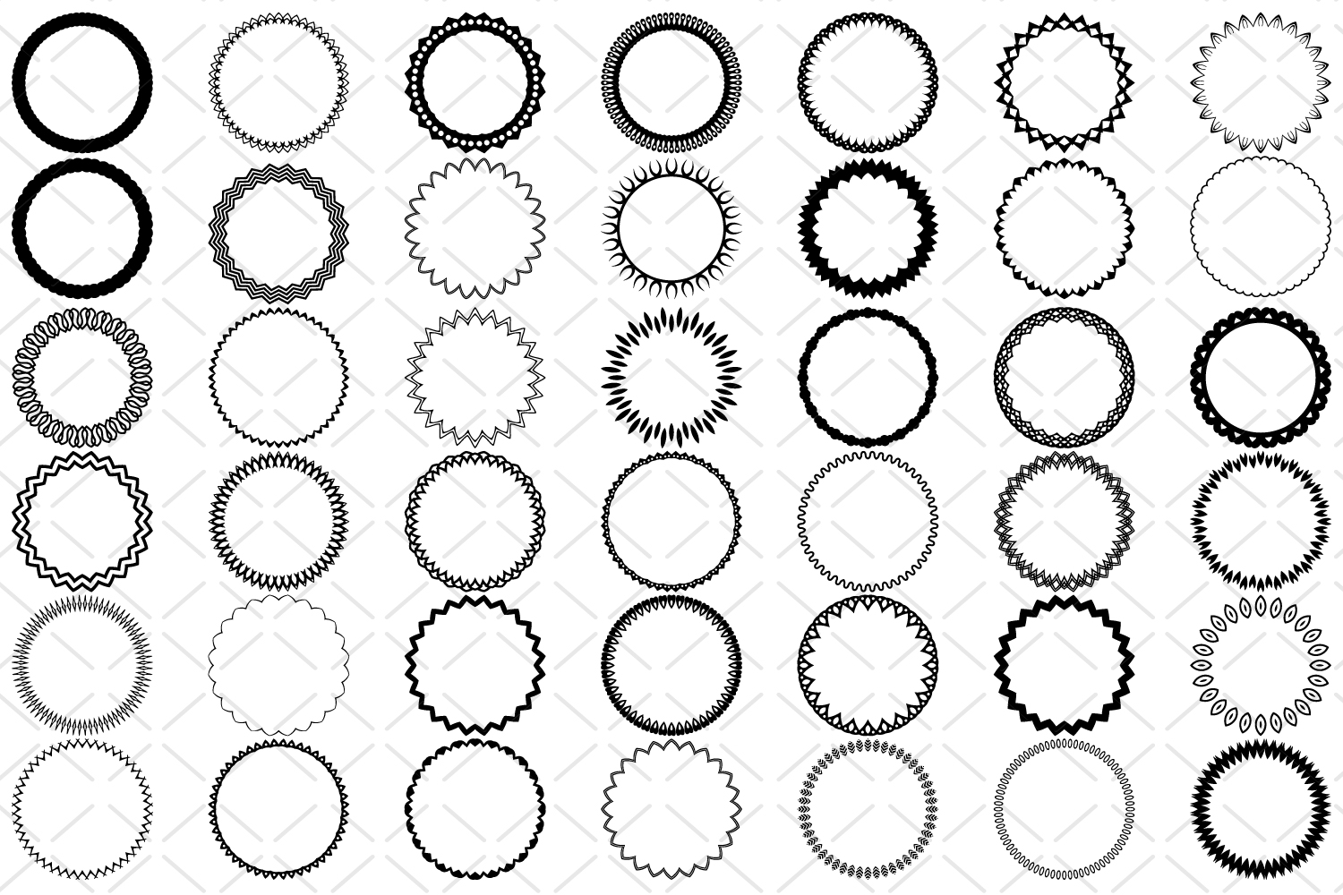 42 Round frames, circle border SVG example image 2