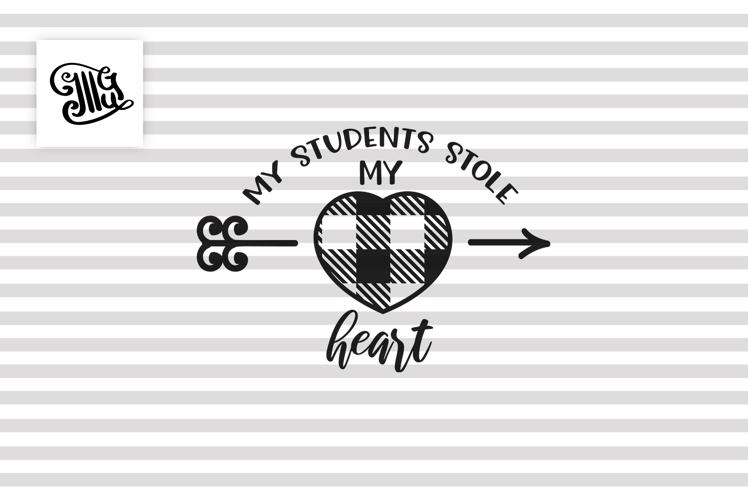 My students stole my heart svg for teacher Valentines day example image 2