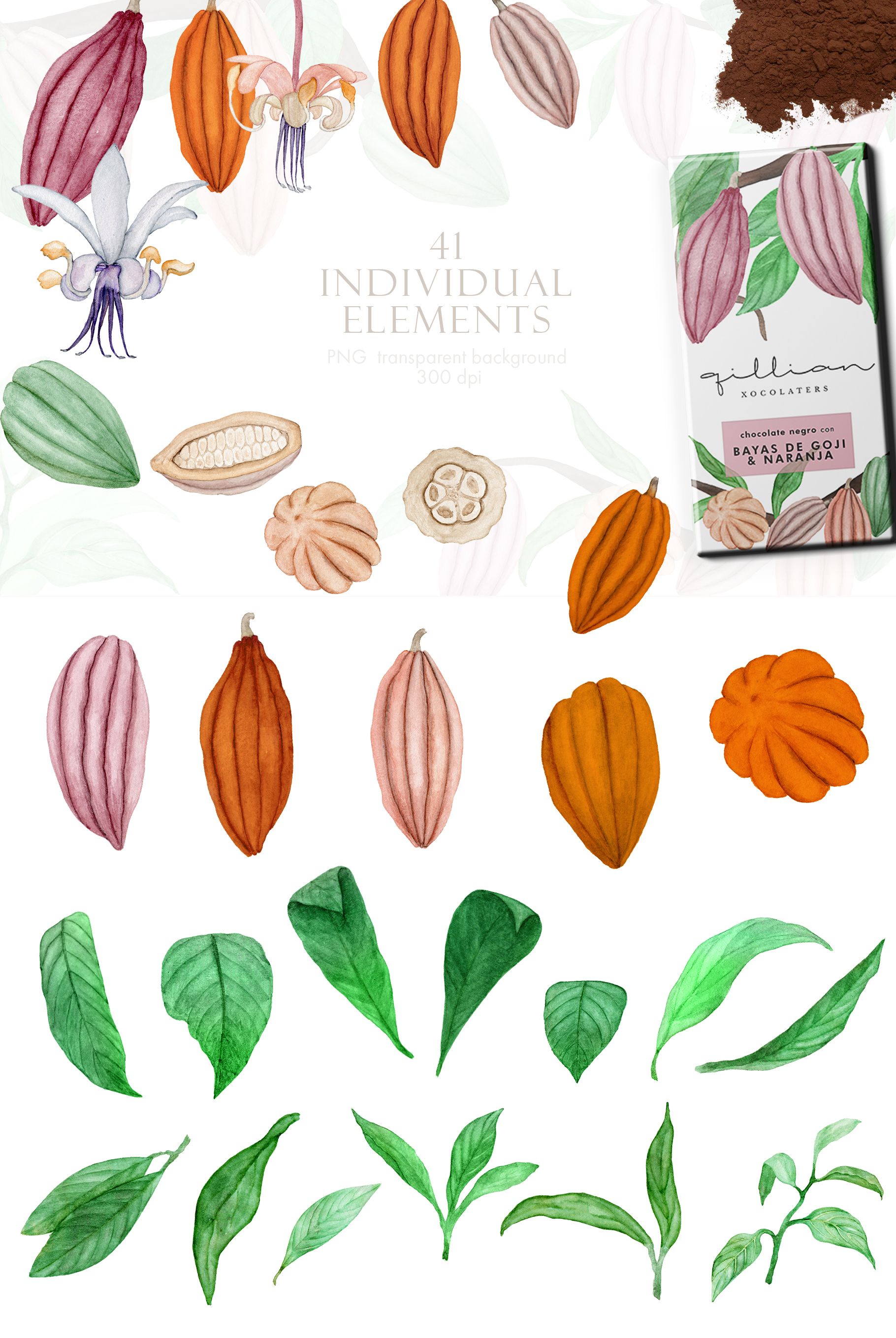 Wonderful Cocoa - Watercolor Clipart Set example image 6
