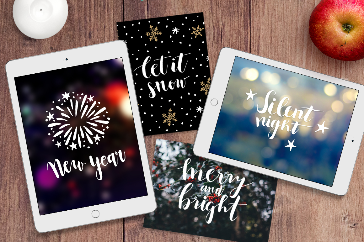 Silent Night Christmas photo overlays example image 4