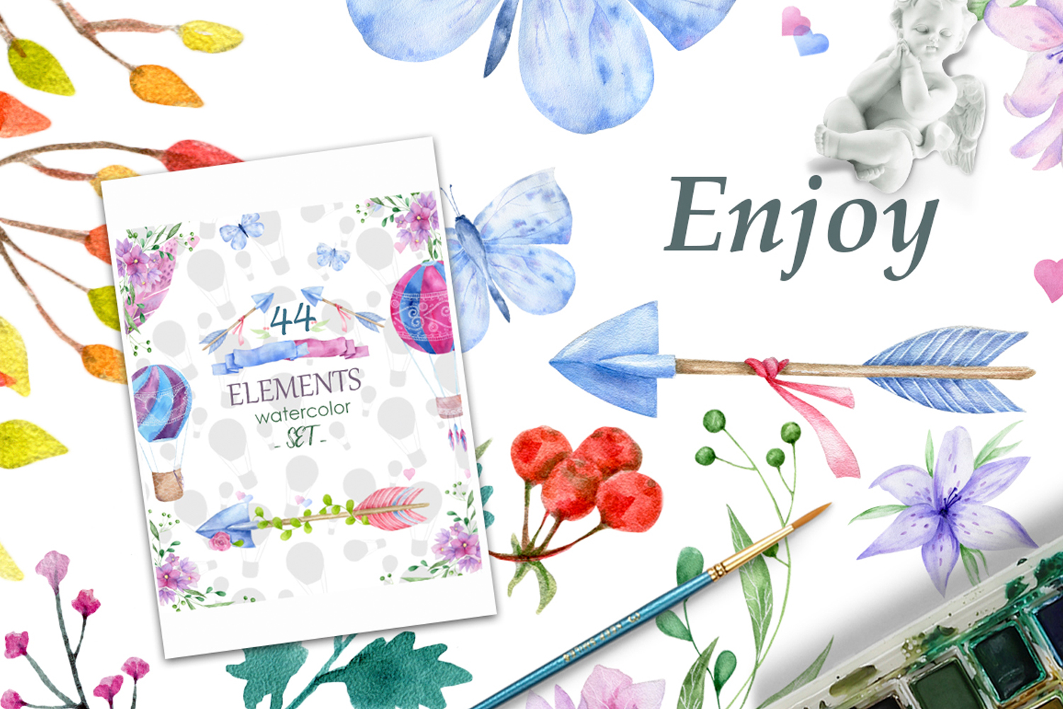 Romantic Mood Watercolor Love example image 9