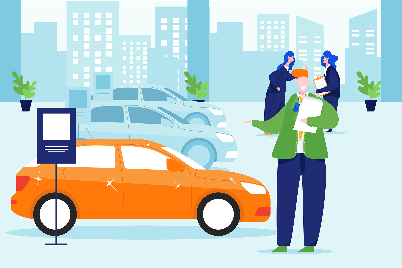 Car Dealership Vector Illustration Pack example image 4