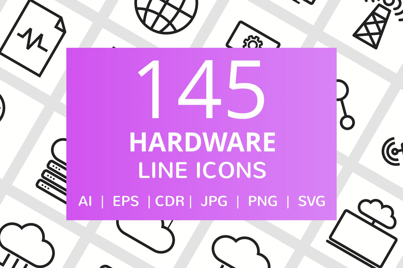 145 Hardware Line Icons example image 1