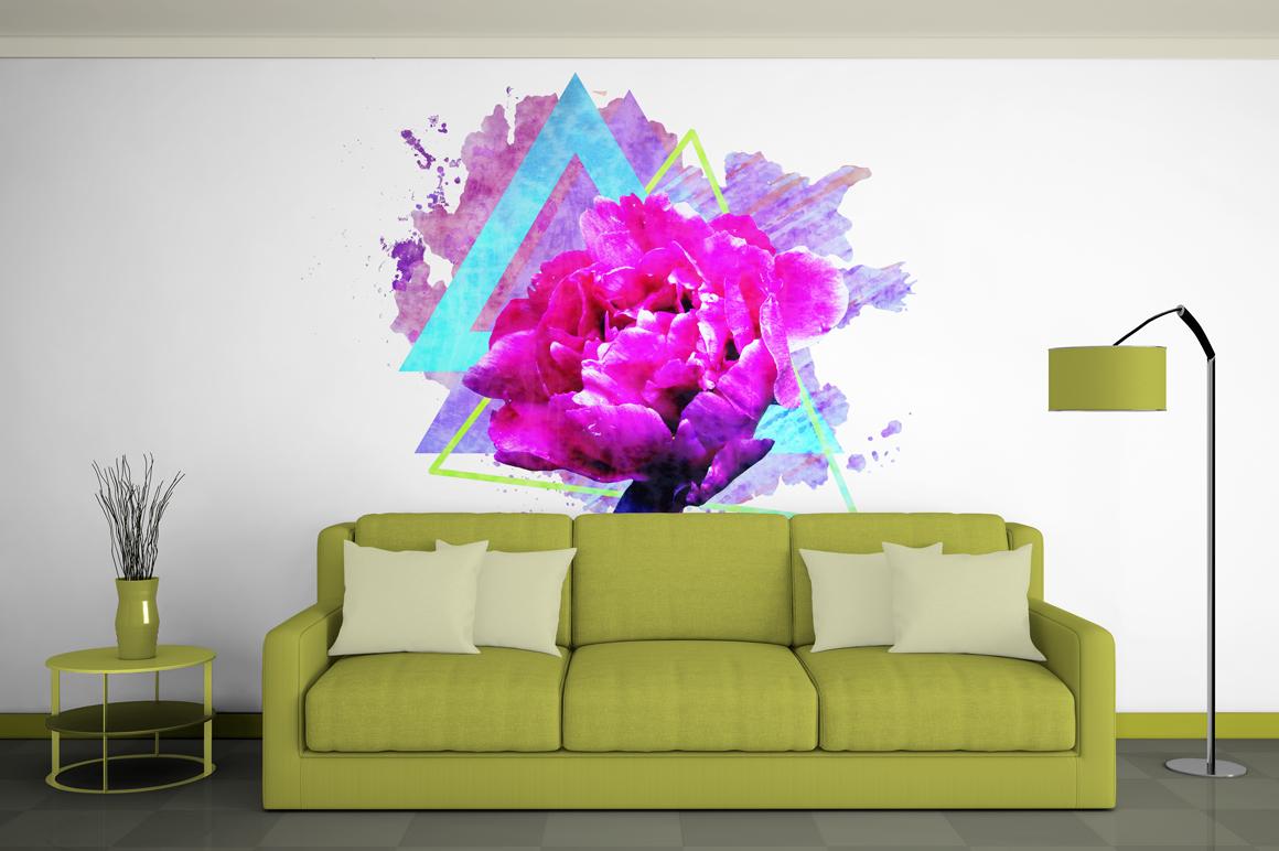 Trendy flower print. Adorable Peon. example image 3